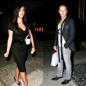 Kim Kardashian with Joey Lawrence