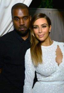 Kim Kardashian with Kanye West