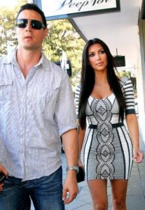 Kim Kardashian with Shengo Deane