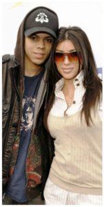 Kim Kardashian with Evan Ross