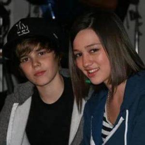 Justin Bieber with Kristen Rodeheaver