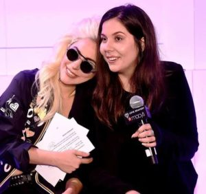 Lady Gaga with her Sister