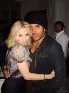 Madonna with Lenny Kravitz