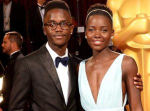 Lupita Nyong'o with her Brother