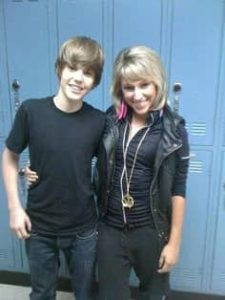 Justin Bieber with Mandy Rain