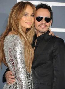 Jennifer Lopez with Marc Anthony