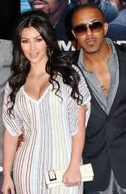 Kim Kardashian with Marques Houston