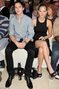 Jenifer Lawrence with Nicholas Hoult