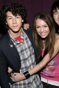 Nick Jonas with Miley Cyrus