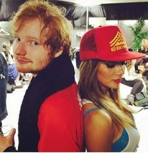 Ed Sheeran with Nicole Scherzinger