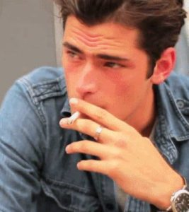 Sean O'Pry doing Smoking