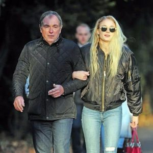 Sophie Turner with her Father