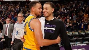 Stephen Curry with his Brother Seth Curry