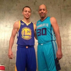Stephen Curry with his Father
