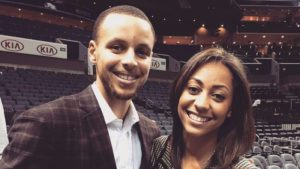 Stephen Curry with his Sister