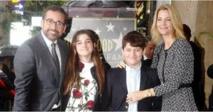 Steve Carell with his Kids & Wife