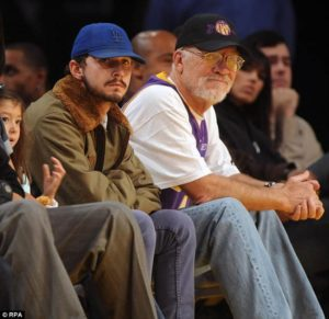 Shia Labeouf with his Father