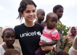 Selena in Unicef