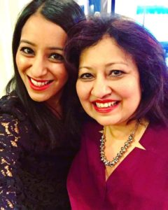 Sabrina Siddiqui with her mother
