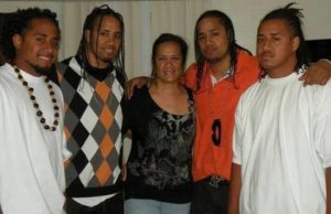 Jimmy Uso with his Mother and Brothers