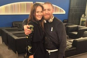 Conor McGregor with his girlfriend