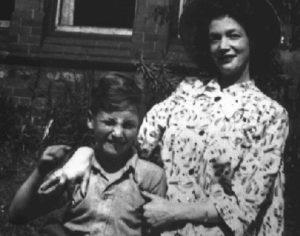 John Lennon with mother Julian Lennon