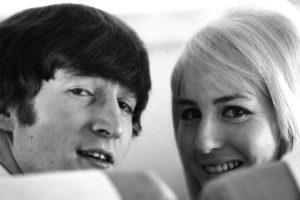 John Lennon with wife Cynthia
