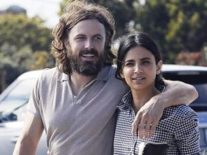 Casey Affleck with his girlfriend Floriana Lima