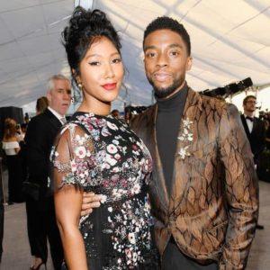 Chadwick Boseman with Taylor Simone Ledward