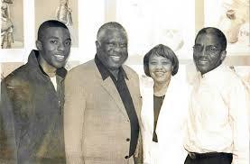 Chadwick Boseman with his family