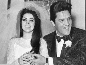 Elvis Presley with Priscilla Presley