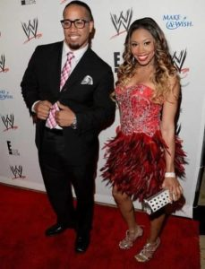 Jey Uso with his wife