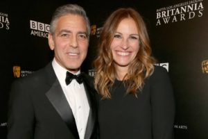 Julia Roberts with George Clooney