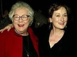 Meryl Streep with her Mother