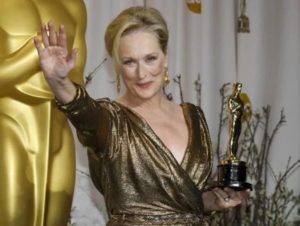 Meryl Streeps with Oscar