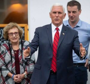 Mike Pence with his Mother