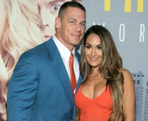 Nikki Bella with boyfriend John Cena