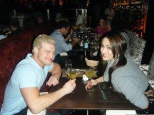 Nikki Bella with Dolph Ziggler
