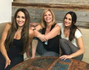 Nikki Bella with her mother Kathy and sister Brie