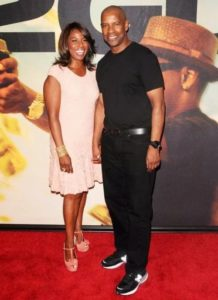 Denzel with his wife Pauletta Pearson