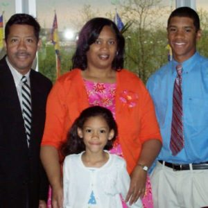 Russell Wilson with his parents