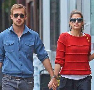 Ryan Gosling with his girlfriend Eva Mendes