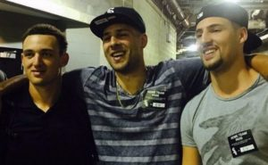 Klay Thompson with his brothers