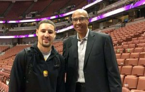 Klay Thompson with his father