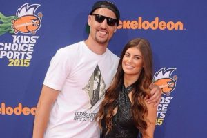 Klay Thompson with his girlfriend