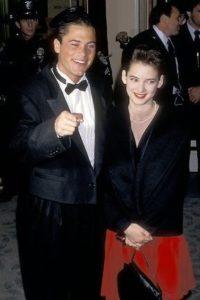 Winona Ryder with her boyfriend Rob Lowe