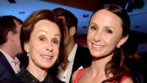 Emma Bloomberg with her mother
