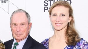 Emma Bloomberg with her father