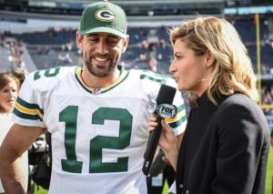 Aaron Rodgers and Erin Andrews