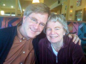 Rick Steves with his mother June Steves